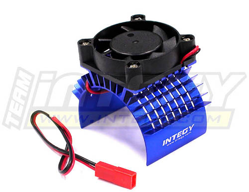 Integy RC Toy Model Hop-ups C23138BLUE Super Motor Heatsink+Cooling Fan 750 for Traxxas... by Integy