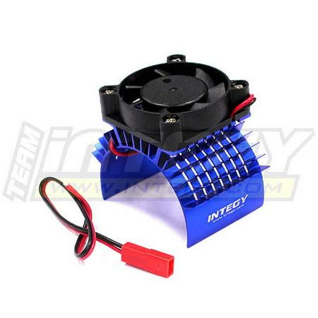 Integy RC Toy Model Hop-ups C23138BLUE Super Motor Heatsink+Cooling Fan 750 for Traxxas Summit