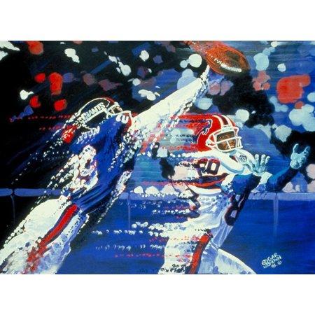 "Buffalo Bills vs. New York Giants Deacon Jones Foundation 24"" x 36"" Deflection Dueling Giclee on Canvas - No Size"