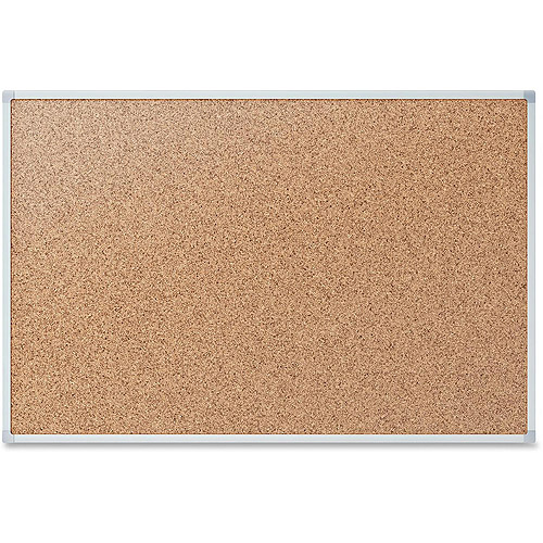 Mead Cork Bulletin Board, 24 x 18, Silver Aluminum Frame