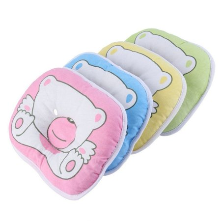Cute Bear Pattern Pillow Newborn Infant Baby Support