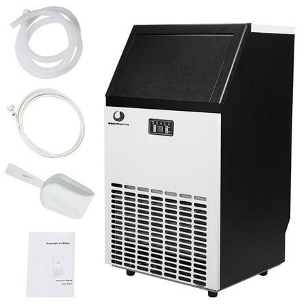 Beamnova Stainless Steel Commercial Ice Maker 100lbs Built In Freestanding Machine For Restaurant Wet