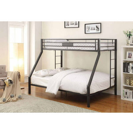 Acme Furniture Limbra Twin Over Queen Metal Bunk Bed Black Sand