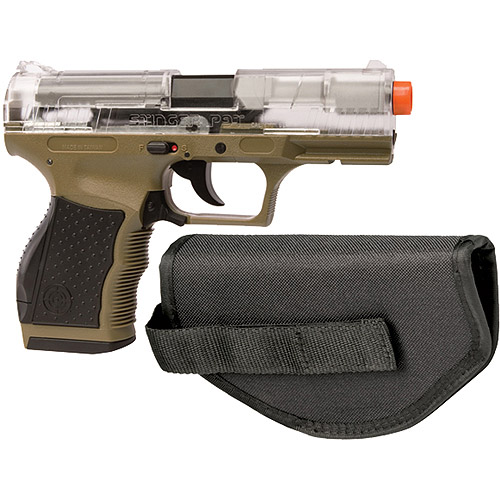 Crosman Stinger P9T Airsoft Pistol Kit, Clear / Dark