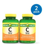 Spring Valley Vitamin C Tablets, 500mg, 250Ct, 2Pk