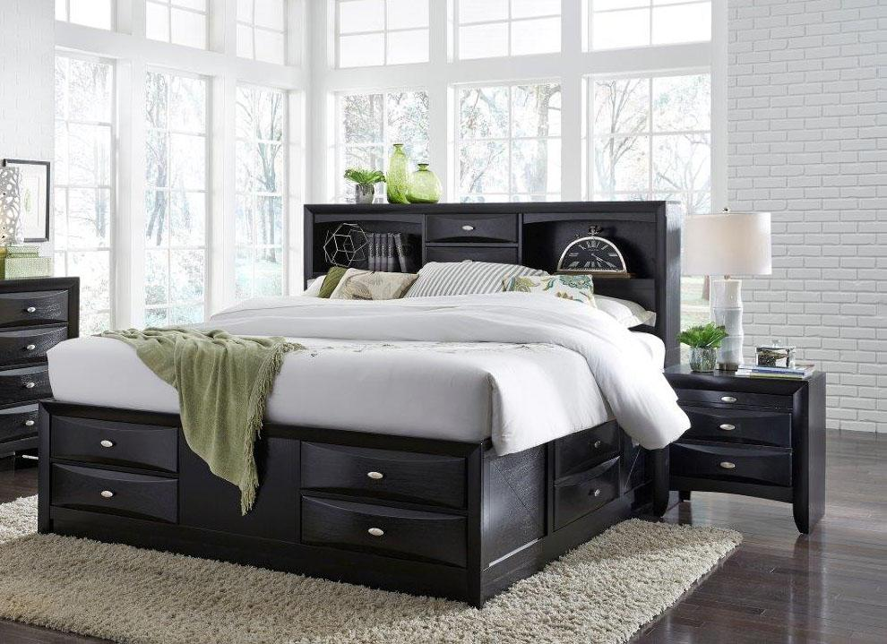Traditional Storage King Size Bedroom Set 3 Pcs Linda ...