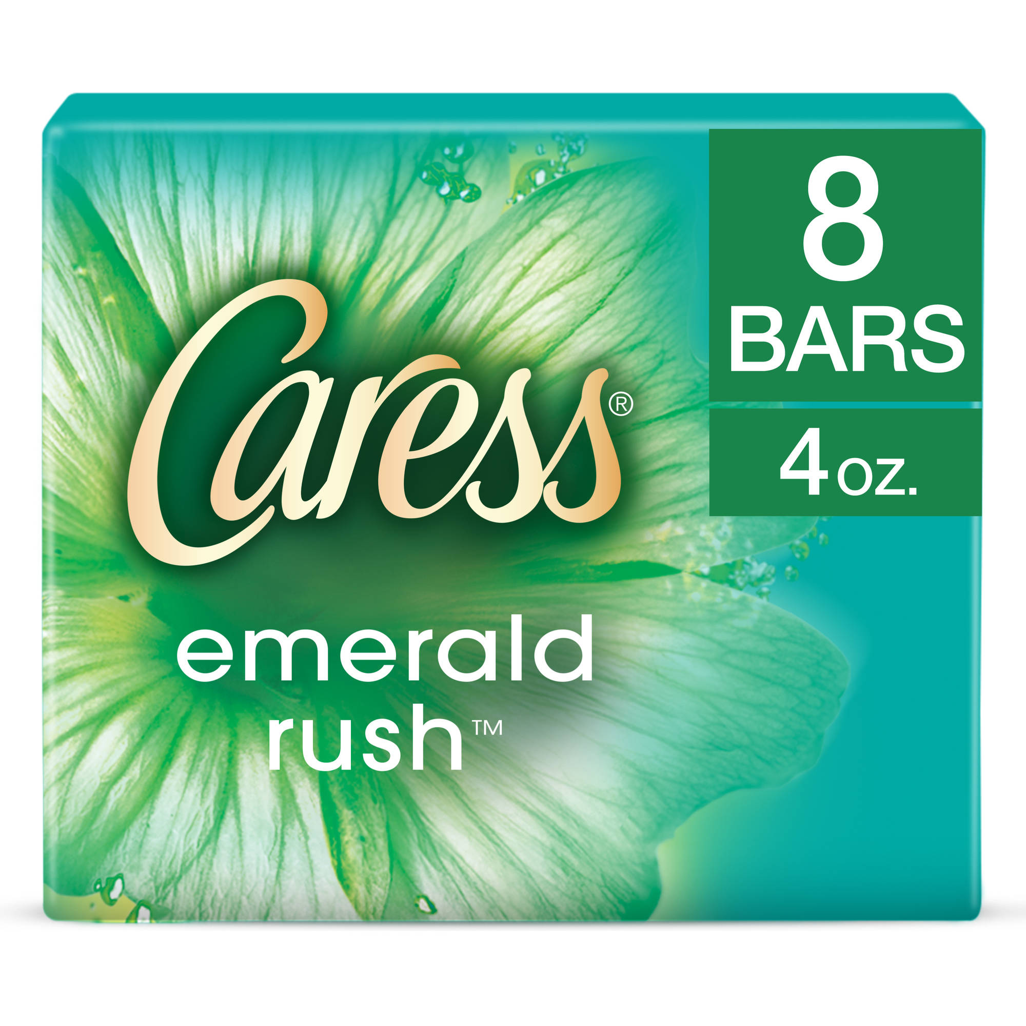 Caress Emerald Rush Beauty Bar, 4 oz, 8 Bar