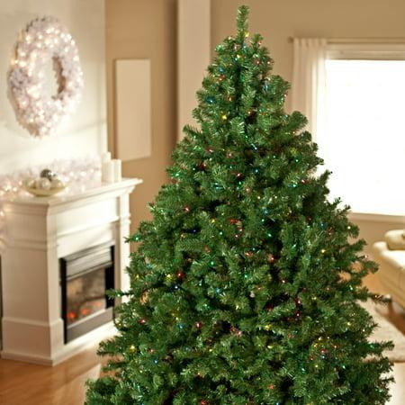 Classic Pine Full Pre-lit Christmas Tree - Walmart.com
