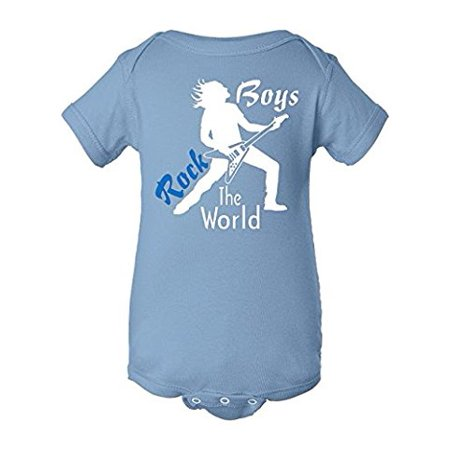 Fasciino - Cute Baby Onesie Bodysuit Boys Rock The World (Sizes: NB-24M) - Pink Monster Onesie