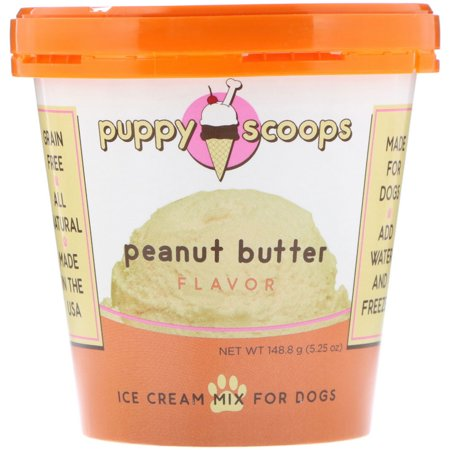 Puppy Cake  Ice Cream Mix For Dogs  Peanut Butter Flavor  5 25 oz  148 8 g - Ice Cream Dog House