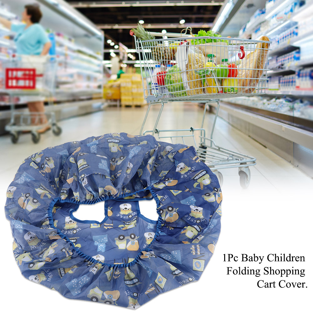 Blue series Children Folding Shopping Cart Cover Seat Chair Cover for Baby for Toddler