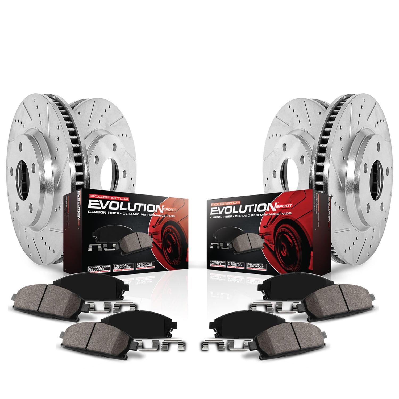 Power Stop K6808 Z23 Evolution Sport Upgrade Brake Kit -Front & Rear