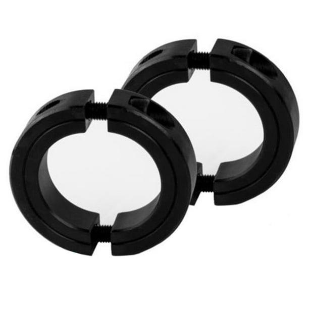 4 PCS 1-3//4 Bore Single Split Shaft Collar Black Oxide Set Screw Style