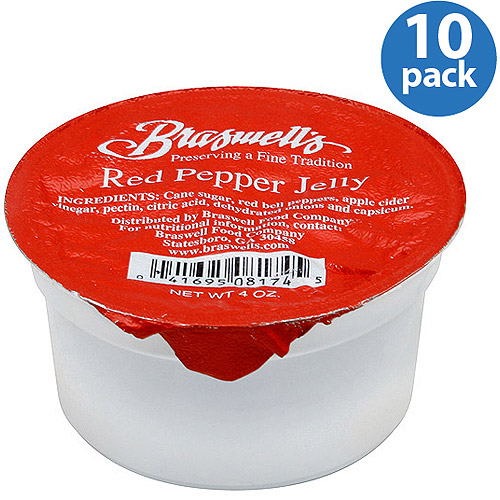 Braswell Red Pepper Jelly, 4 Oz, (pack O
