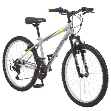 "Roadmaster Granite Peak Boy's Mountain Bike, 24"" wheels, Silver"