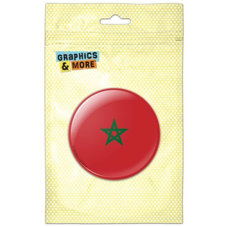 Morocco National Country Flag Pinback Button Pin - 2012 Pinback Buttons
