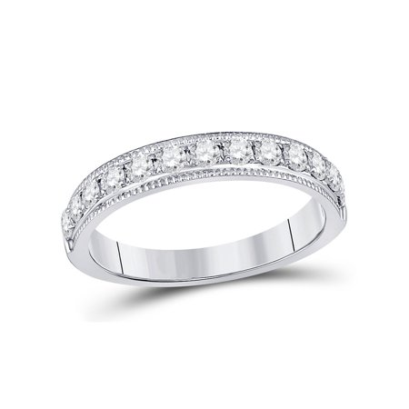 Diamond Wedding Anniversary Band 1/2 Carat (ctw H-I, I1-I2) in 14K White Gold