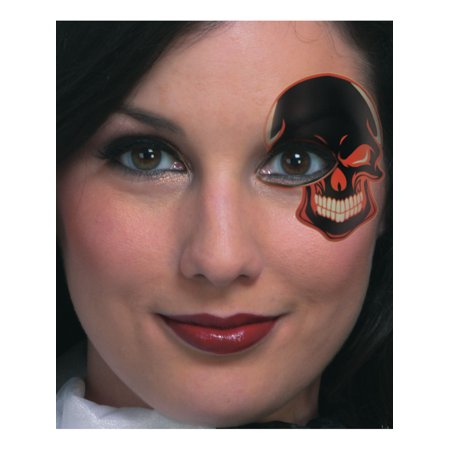 Skeleton Skull Temporary Face Eye Tattoo Mask Costume Accessory (Skeleton Face Tatoo)