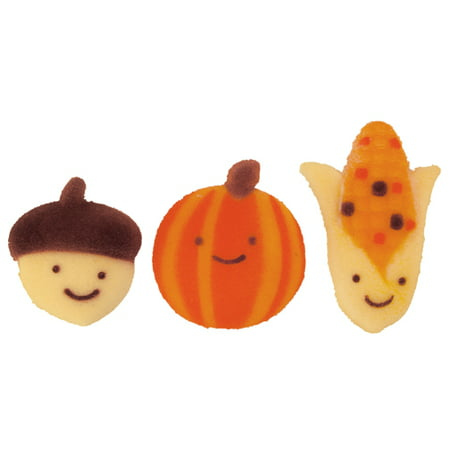 Autumn Sugar (Autumn Friends Molded Sugar Cake/Cupcake Decorations - 12)
