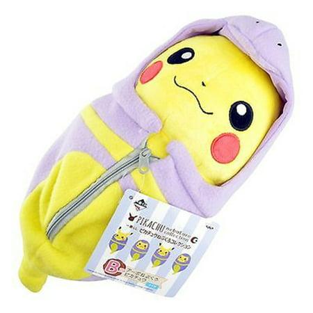 Pokemon Plush Doll  - Pikachu - Sleeping Bag Doll Open Eyes -