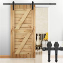 SmileMart 6 FT Modern Sliding Barn Door Interior Track System Kit Set
