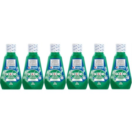 6 Pack Scope Mouthwash Classic Travel Size 36 Ml / 1.2 Fl -