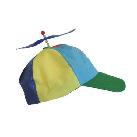 dbcbe18e1 Adult Multi-Colored Baseball Spinning Propeller Hat