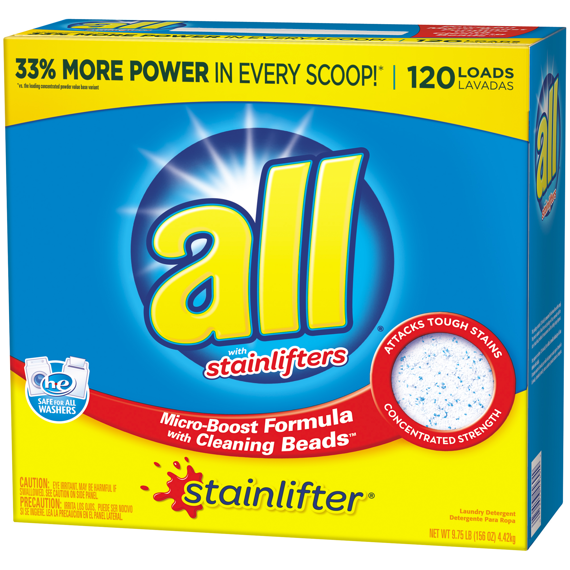 all Stainlifter Powder Laundry Detergent, 156 Ounce, 120 Loads