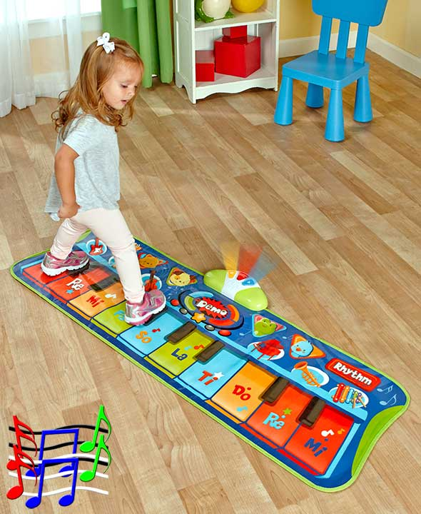 Step To Play Piano Mat Musical Electronic Floor Keyboard