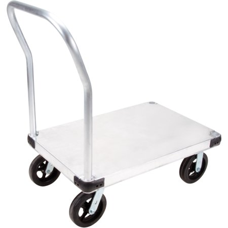 Kleton Aluminum Platform Truck, Smooth Deck, 30-Inch by 60-Inch, 8-Inch Mold-On Rubber Casters, 2000-lbs Capacity - image 1 of 1
