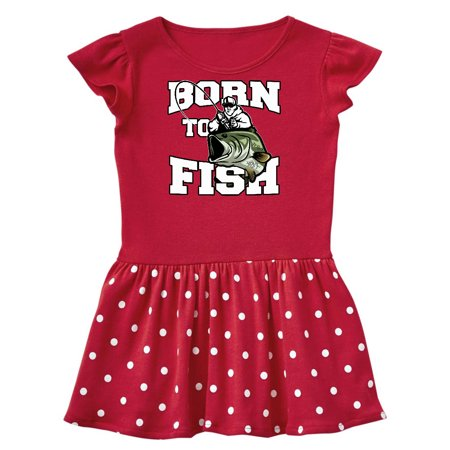 Born to Fish Toddler Dress