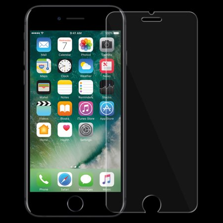 2 Days Free Crystal - iPhone 7 Plus Screen Protector, Pack of 2 Tempered Glass Screen Protector Scratch Guard for Apple iPhone 7 Plus - 9H Hardness, Crystal Clear, Scratch Resist, Bubble Free
