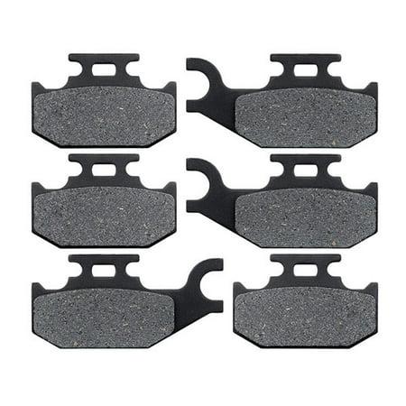 KMG Front + Rear Brake Pads for 2001-2005 Bombardier Traxter Autoshift - Non-Metallic Organic NAO Brake Pads Set - image 4 de 4