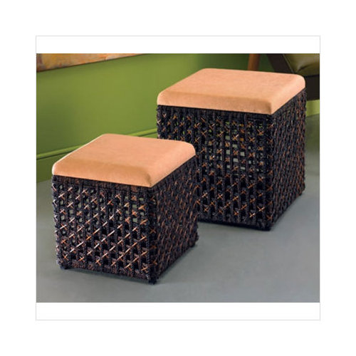 Marvelous Texture Home Decor Woven Accents Nesting Square Storage Ottoman Set