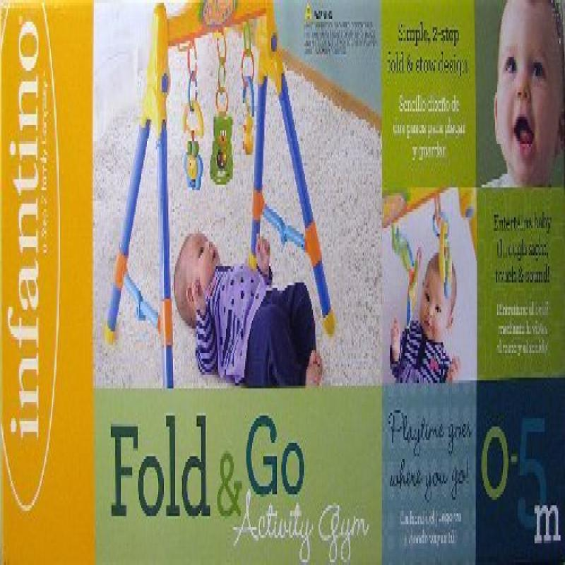 Infantino Fold & Go Activity Baby Infant Gym Interactive ...