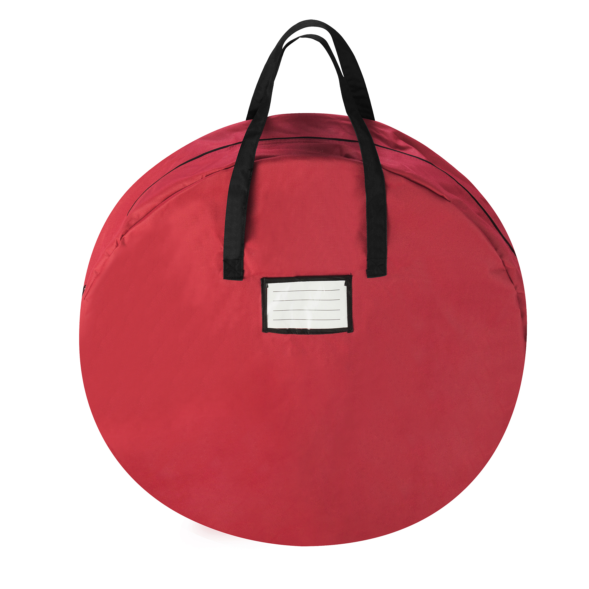 "Tiny Tim Totes Red Canvas Holiday Christmas Wreath Storage Bag For 30"" Wreaths"