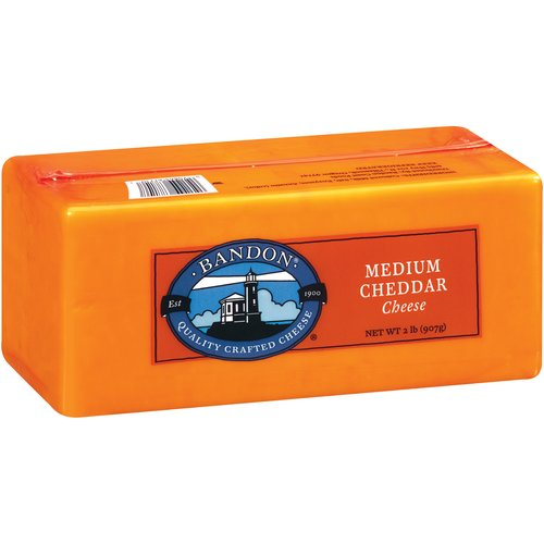 Bandon Medium Cheddar 2 lb Chunk