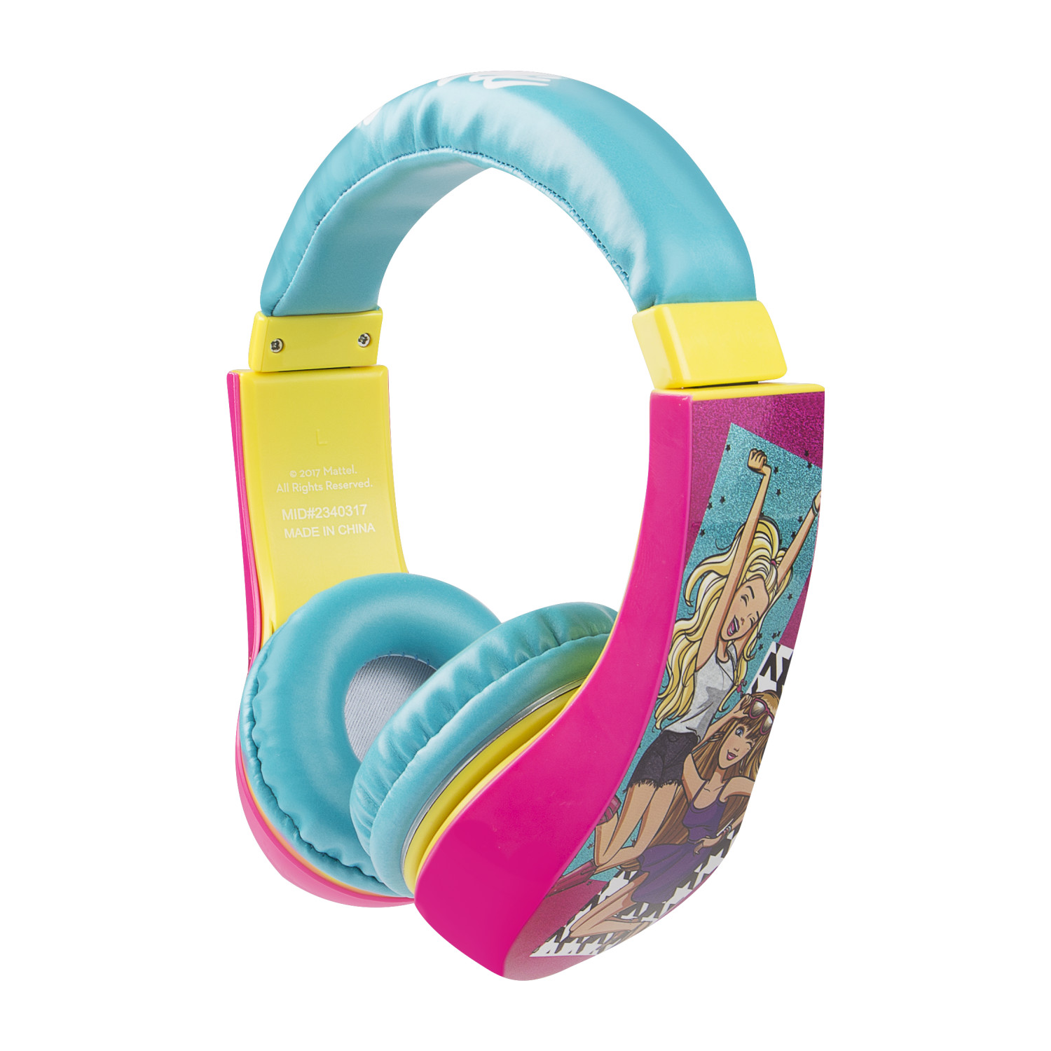 Barbie Kids Friendly Cushioned Headphones with Volume Limiter
