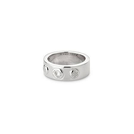 Bezel Set Moissanite & Sterling Silver Ring