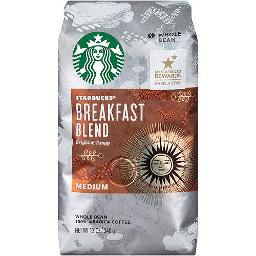 Starbucks�� Breakfast Blend Medium Whole Bean Coffee 12 oz. Bag