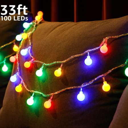 TORCHSTAR LED Globe String Lights, Waterproof Outdoor String Lights, Christmas Lights for Party, Garden, Patio, Bedroom, Dorm, Multi-Color - Outdoor Party String Lights