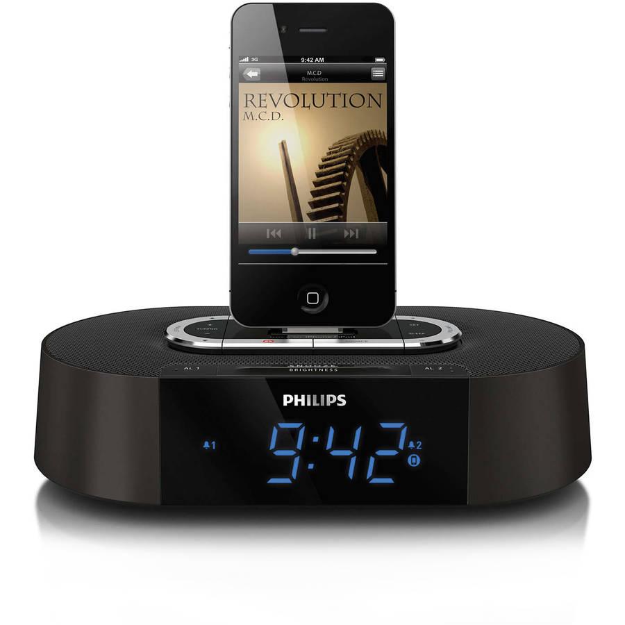 Philips AJ7030DG/37 Alarm Clock Radio 30-Pin Speaker Dock ...