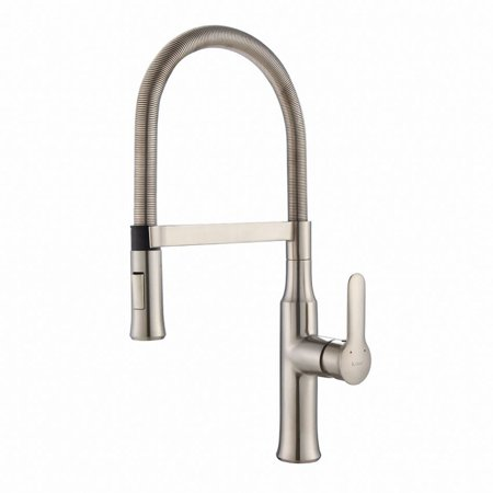 Kraus Nola Single Lever Flex Pull-Down Head Kitchen Faucet, Stainless Steel
