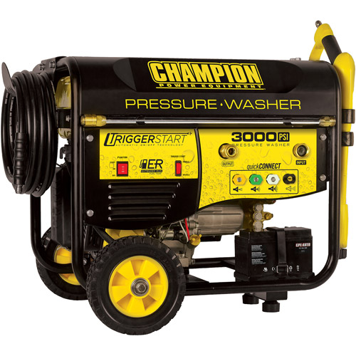 Champion Power Equipment 3000 PSI Residential Pressure Washer, Yellow