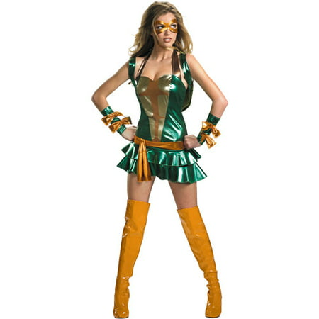 Teenage Mutant Ninja Turtles Michelangelo Sassy Deluxe Adult Halloween Costume](Teenage Halloween Costumes For Girls)