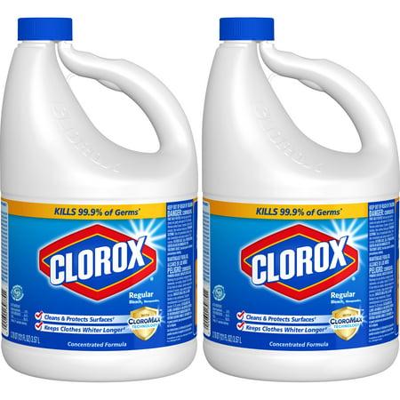 Clorox Regular Liquid Bleach, 121 oz Bottle, 2 pack