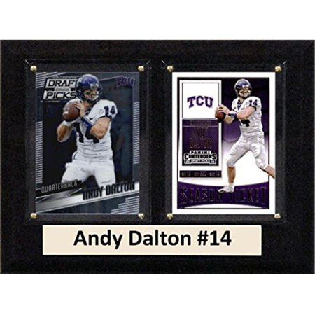 "C & I Collectables NCAA 6"" x 8"" Andy Dalton TCU Horned Frogs 2 Card Plaque"