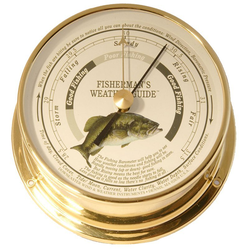Downeaster Freshwater Series Fishing Barometer by Cape Cod Wind and Weather Inc