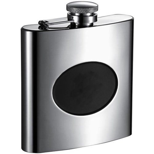 Visol Products Stainless Steel Recessed Engraving Plate Flask