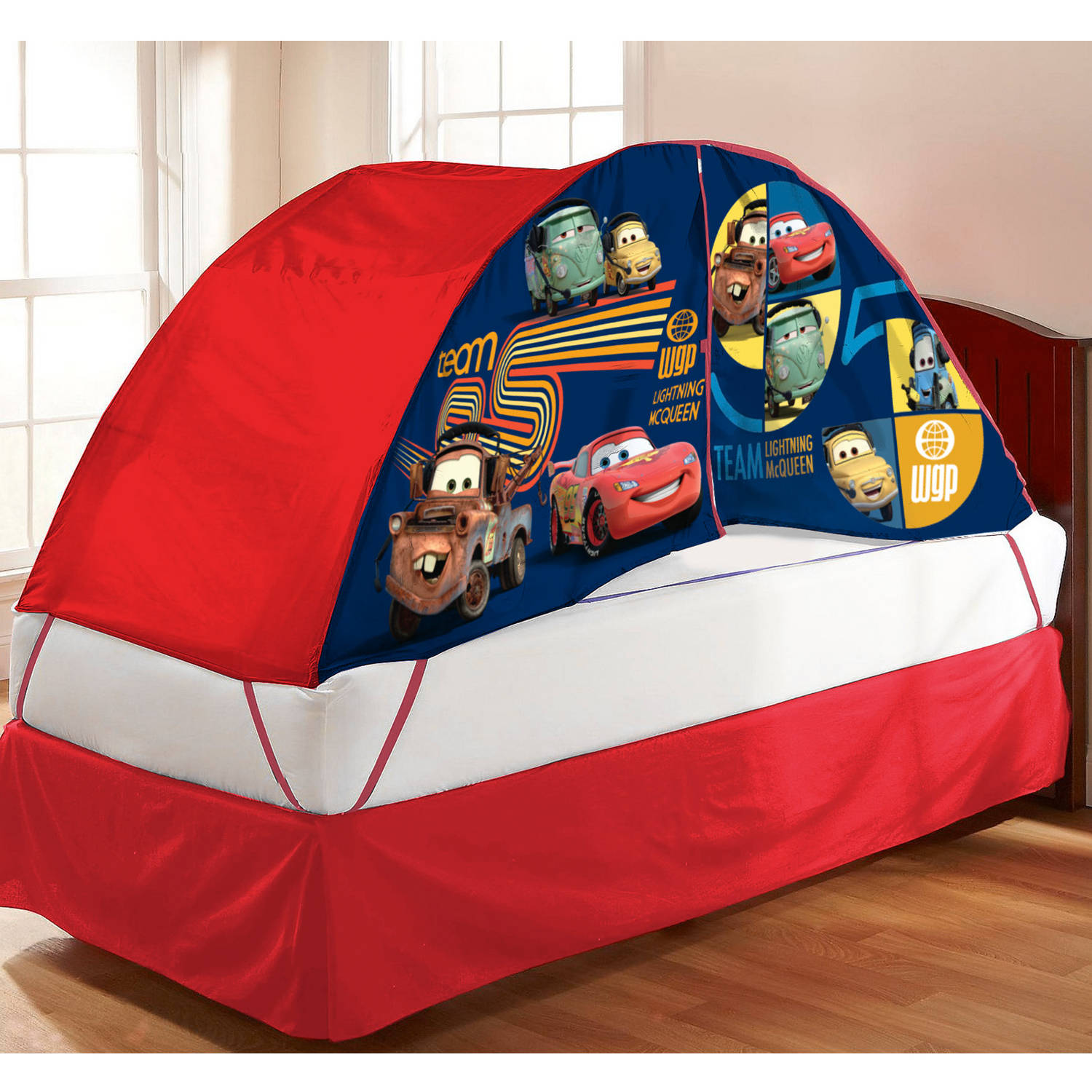 Disney Cars Bed Tent with Pushlight & Disney Cars Bed Tent with Pushlight - Walmart.com